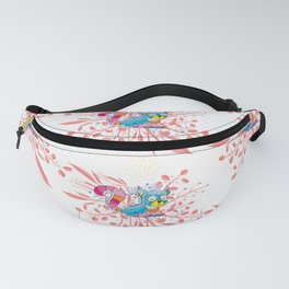 Happy Spring Raccoon Pattern Fanny Pack
