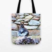 kangaroo Tote Bags featuring Kangaroo by Raffaella315