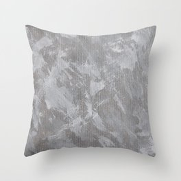 White Ink on Silver Background Throw Pillow