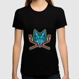Coyote Ice Hockey Sports Mascot T-shirt