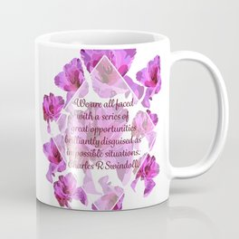 Great Opportunities in Disguise Floral Print-by Hxlxynxchxle Coffee Mug