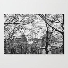 Winter Scenic of Castle Street, Lancaster. Canvas Print