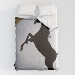 Copy Cat horse cat folk art painting Comforters