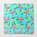 Flamingos Memphis #society6 #decor #buyart by designdn