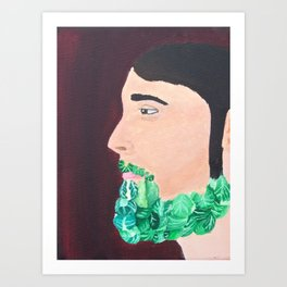Brussel Beard Art Print