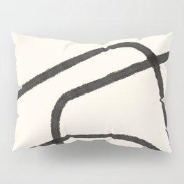 Thick Continuous Line Series 1 | Boho Home Decor, Modern Wall Art, Continuous Line Art, Contour Line Pillow Sham