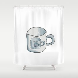 Cute Cup of coffee Shower Curtain