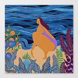 Eve at the beach Canvas Print