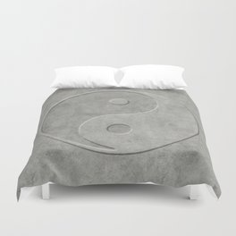 Yin and Yang Symbol embossed  concrete stone Duvet Cover