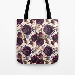 Small Burgundy Blossom Bouquets on Soft Pink  Tote Bag
