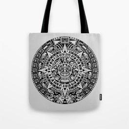 Mayan Calendar // Light Grey Tote Bag
