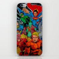 superheros iPhone & iPod Skins featuring Heroes Unite by JayKay