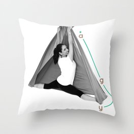 AntiGravity Butterfly Pose Throw Pillow