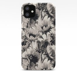Sunflowers in Soft Sepia iPhone Case