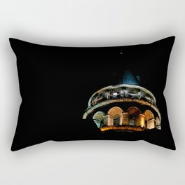 Galata Tower in the dark Rectangular Pillow