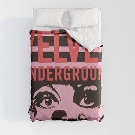 1968 Velvet Underground Concert Gig Vintage Advertising Poster Duvet Cover