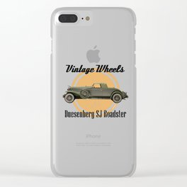 Vintage Wheels: Duesenberg SJ Roadster Clear iPhone Case
