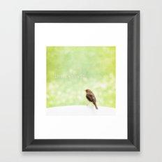 Little friends Framed Art Print