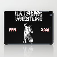 wrestling iPad Cases featuring Extreme Wrestling by Darth Paul