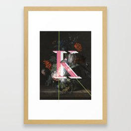 Letter K Framed Art Print