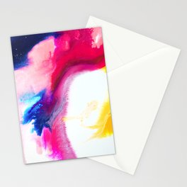 Happiness Talks Abstract Watercolor Painting Stationery Cards