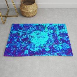 AQUA - Abstract blue water painting Rug