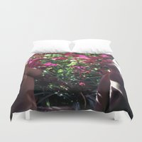 boobs Duvet Covers featuring Pretty Floral Boobs by Slow Toast