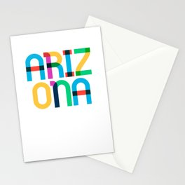 Arizona State Mid Century, Pop Art Mondrian Stationery Cards