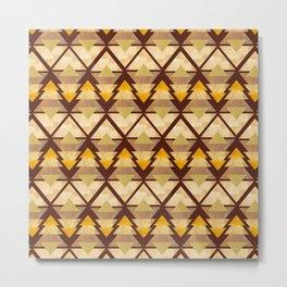 Rustic Geometric Forest Metal Print