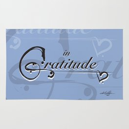 In Gratitude, Serenity by Kathy Morton Stanion Rug