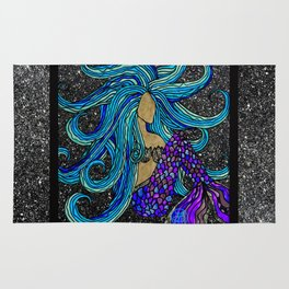Blue Mermaid Rug