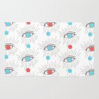 illuminati Area & Throw Rugs featuring Illuminati eyes! by graceinspace