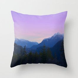 Evening on the Top Throw Pillow