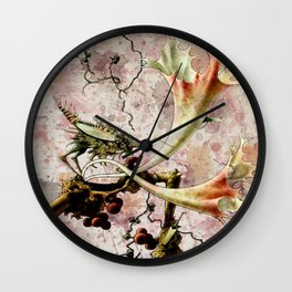 Franz Sedlacek Blooms And Insects II Wall Clock