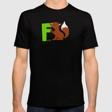 f for fox Black MEDIUM Mens Fitted Tee