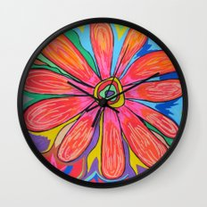 First big flower Wall Clock