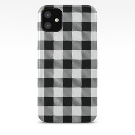 Buffalo Check Black White Plaid Pattern iPhone Case