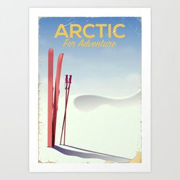 Arctic For adventure vintage poster Art Print