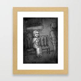 The old woman who dreamed awake Framed Art Print