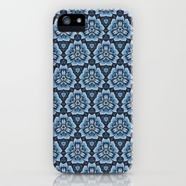 Blue Blossom Motif iPhone Case