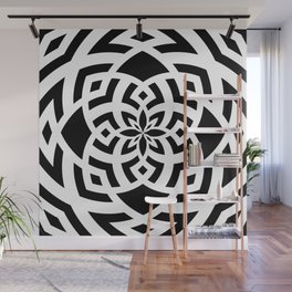 Abstract Floral Pattern Wall Mural