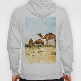 Camels in the Desert Hoody