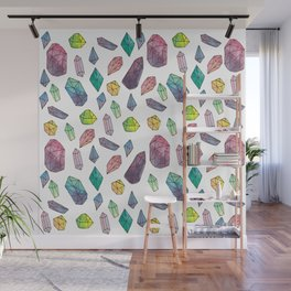 watercolour cystals Wall Mural