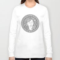 versace Long Sleeve T-shirts featuring GREEK GODDESS by AZZURRO ARTS