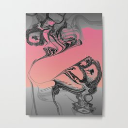 melted time-abstract art Metal Print