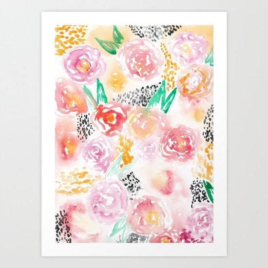 Abstract Watercolor III Art Print