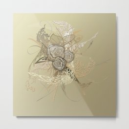 50 Shades of lace Gold Gold Metal Print