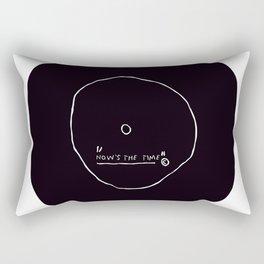 Now' s The Time Basquiat Rectangular Pillow