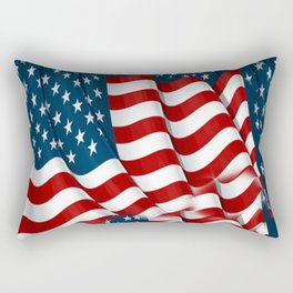 "ORIGINAL  AMERICANA FLAG ART ""STARS N' BARS"" PATTERNS Rectangular Pillow"