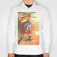 supergirl Hoodies featuring Super Family - Superman SuperGirl and SuperBoy by Brian Hollins art